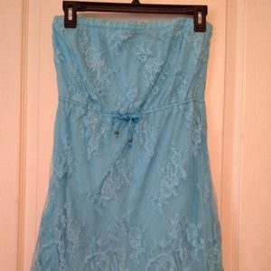 Aeropostale Lace Strapless Summer Party Dress
